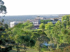 Flinders University buildings from the campus hills