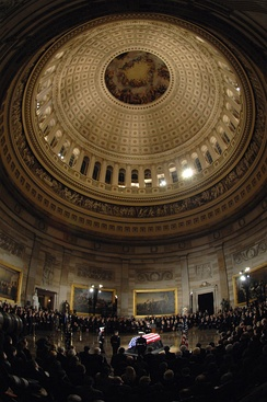 Ford is honored during a memorial service in the U.S. Capitol Rotunda in Washington, D.C., December 30, 2006.