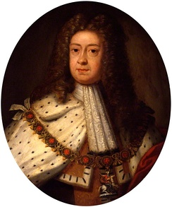 George c.1714, the year of his succession, as painted by Sir Godfrey Kneller