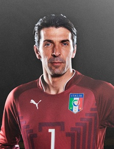 Gianluigi Buffon, the highest-priced goalkeeper and the most capped player for the Italian national team