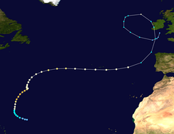 Hurricane Gordon's path
