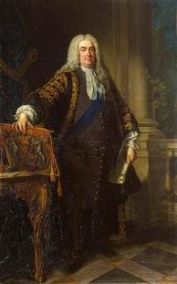 Portrait of Sir Robert Walpole, studio of Jean-Baptiste van Loo, 1740. Walpole is generally considered to have been Britain's first prime minister.