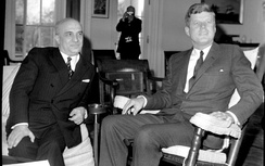 Kennedy with the Italian Prime Minister Amintore Fanfani, at the White House, in 1963
