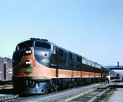 IC's City of New Orleans at Kankakee, Illinois in 1964