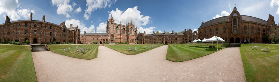 A 360° view of Keble College's Liddon Quadrangle