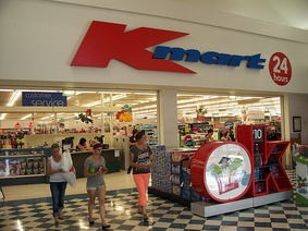 A 24-hour Kmart store in 2014 within New Town Plaza, New Town, an inner-suburb of Hobart.