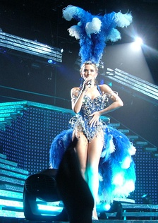 Minogue performing during Showgirl: The Greatest Hits Tour (2005)