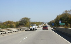 I-90 entering Wisconsin near La Crosse
