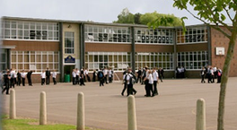 School building and recreation area in England