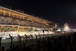 The pits at night