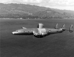 The third production WV-2 in flight in 1954.