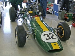 Jim Clark placed fifth driving this Lotus 32B