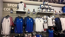 Nike-made France merchandise on display for UEFA Euro 2016