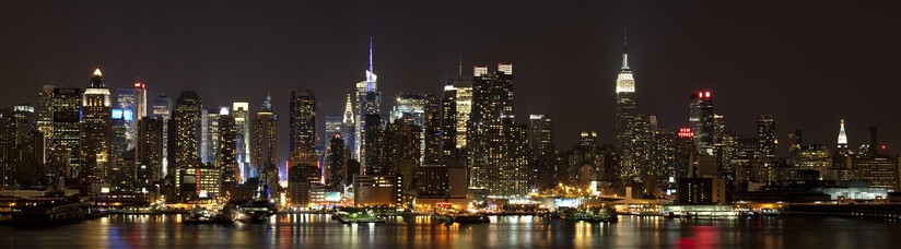 A panoramic view of Midtown Manhattan as seen from Weehawken, New Jersey (2011)