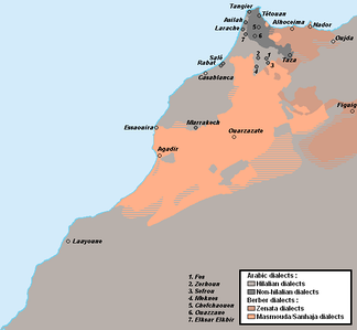 Linguistic map of Morocco