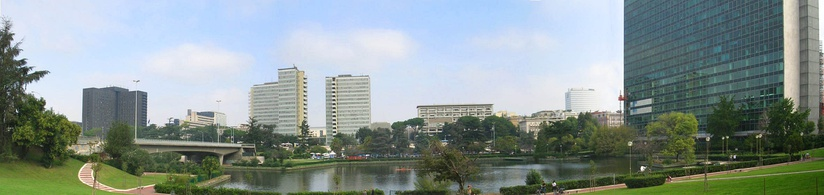 Panoramic view of the EUR business district