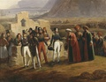 Surrender of Patras to General Schneider by Hippolyte Lecomte.