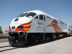 The New Mexico Rail Runner Express services multiple state locations, based in Santa Fe.
