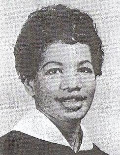 Graduation photo of Ruby Doris Smith-Robinson, who would go on to be executive secretary of SNCC, 1966-1967.