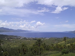 A view of Sogod Bay and the town of Sogod