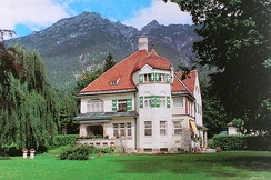 Strauss villa at Garmisch-Partenkirchen.  Built 1906.  Architect:  Emanuel Seidl.