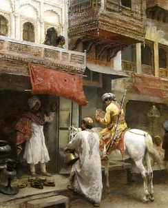 Troopers in the Bazaar, India, by Edwin Lord Weeks, 19th century