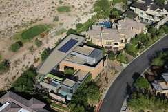 Houses in the affluent Summerlin South area of the valley