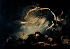 "The Shepherd's Dream, from ""Paradise Lost"", Henry Fuseli (1793)"