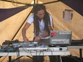 Tom Cosm at the decks at the Rainbow Serpent Festival in 2008
