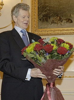 Receiving the Order of Friendship in Moscow, Russia, in 2004