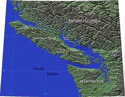 Vancouver Island is separated from mainland British Columbia by the Strait of Georgia and Queen Charlotte Strait, and from Washington by the Juan De Fuca Strait.