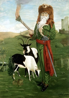 The Welsh socialist and nationalist Dr. William Price, a prominent modern Druid.