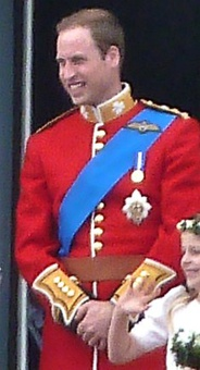 Prince William, Duke of Cambridge wearing Garter Riband and Star