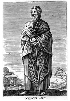 Fictionalized portrait of Xenophanes from a 17th-century engraving