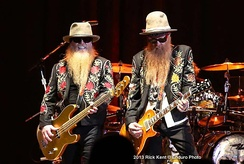ZZ Top at the Alamodome in San Antonio, Texas, 12/7/13, private function not open to public
