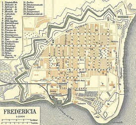 Plan of Fredericia (Denmark) in 1900 – the city was founded in 1650