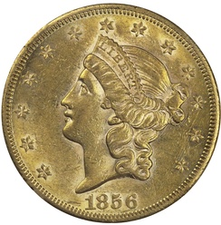 The head of Liberty on the Type 1 dollar resembles that on Longacre's Liberty Head double eagle.
