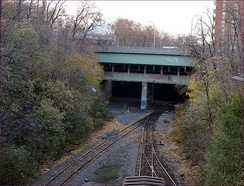 This is the Fourth Avenue Line Bridge over the Long Island Rail Road's Bay Ridge Branch. This bridge has space for two additional trackways.