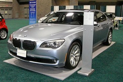 The BMW Concept 7 Series ActiveHybrid is a mild hybrid with an electric motor designed to increase power and performance.