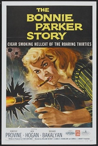 1958: Parker was portrayed in the media as a dominant tough girl who ran a gang of several subservient men, such as in The Bonnie Parker Story