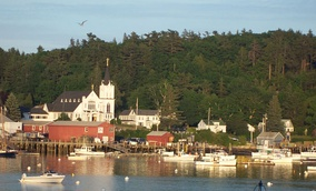 Boothbay Harbor, Maine, where the location shots for Carousel's movie version were filmed