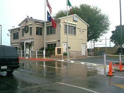 A view of the Brownsville & Matamoros Bridge office