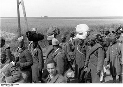 Black prisoners of war from French Africa, captured in 1940