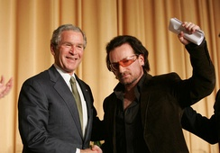 Bono with then-US President George W. Bush in 2006