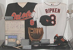 Cal Ripken Jr. exhibit at the Baseball Hall of Fame and Museum