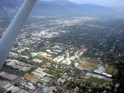 Aerial view of Caltech in Pasadena, California