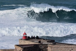 The North Beach (Nazaré, Portugal) listed on the Guinness World Records for the biggest waves ever surfed.