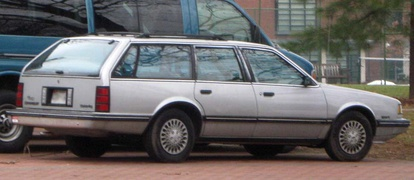 1987-1990 Chevrolet Celebrity station wagon, rear view