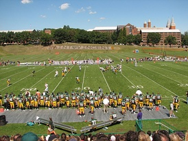 Chuck Noll Field at Saint Vincent College.  Here, Saint Vincent returns to college football in a game against Gallaudet University.