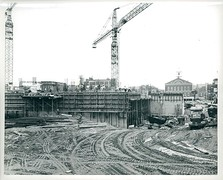 City Hall under construction in the 1960s